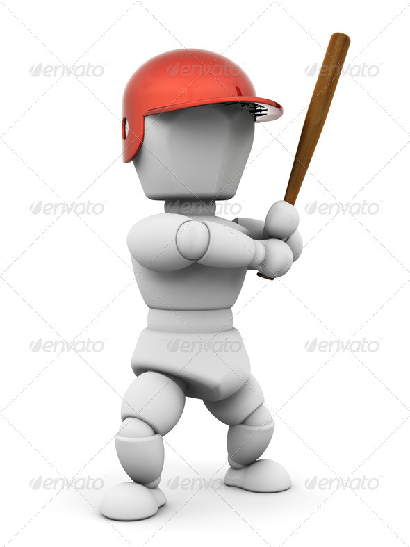 Graphic River Baseball player Graphics -  3D Renders  Characters 305702