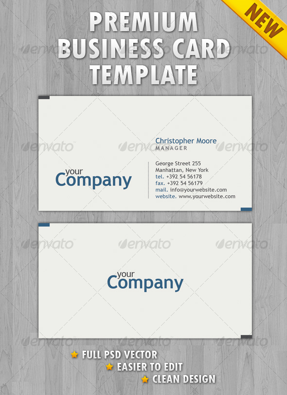 GraphicRiver Clean Business Card 104592
