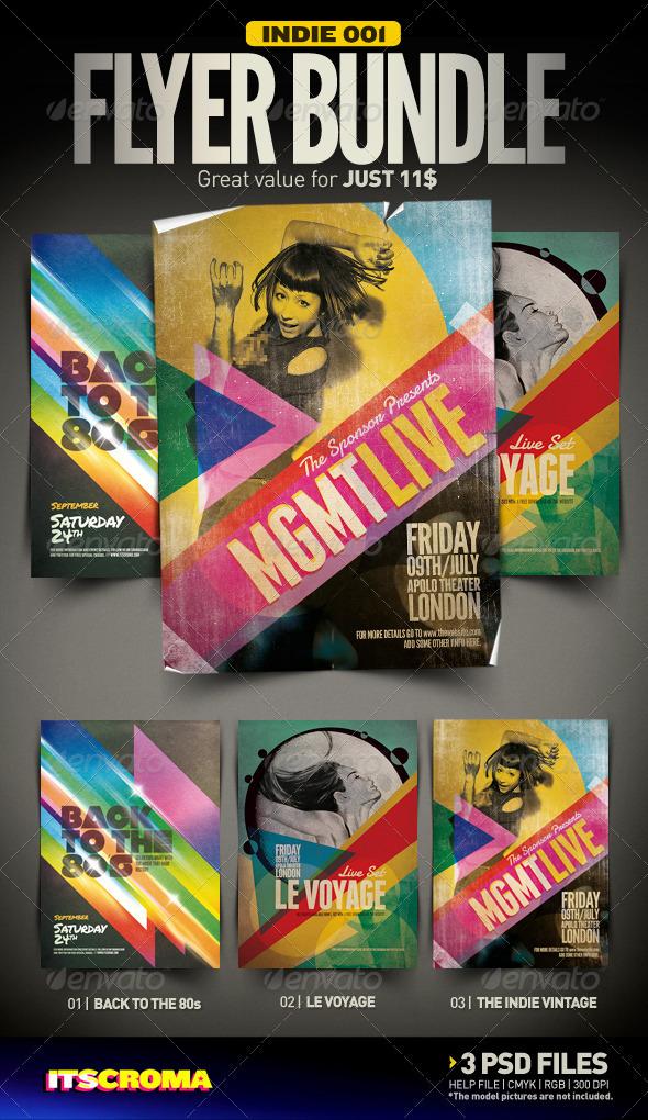 GraphicRiver Indie Flyer Bundle 001 2919209
