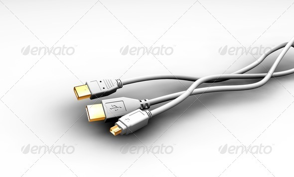Graphic River Cables Graphics -  3D Renders  Technology 305778
