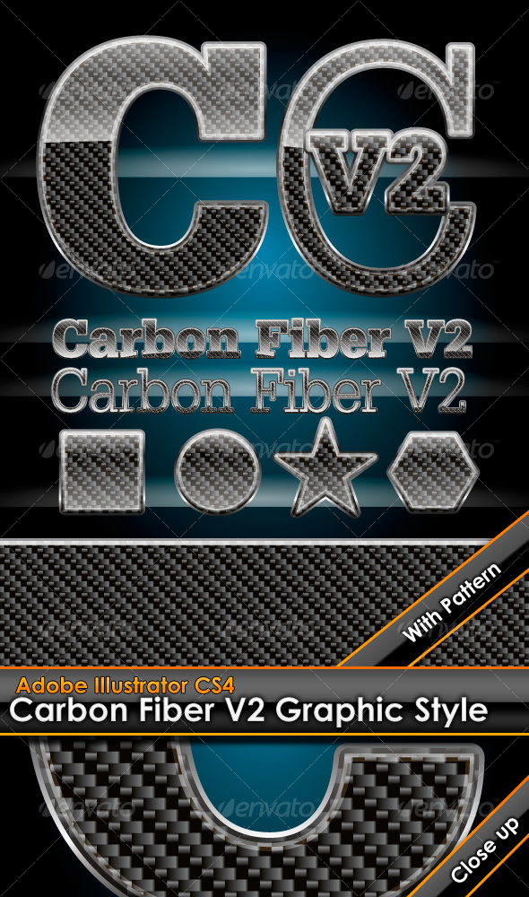 GraphicRiver Glossy Carbon Fiber V2 Graphic Style with Pattern 99090