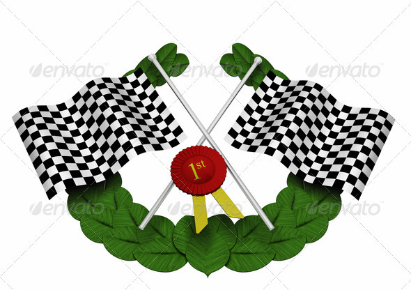 Graphic River Checkered flags Graphics -  3D Renders  Objects 305797