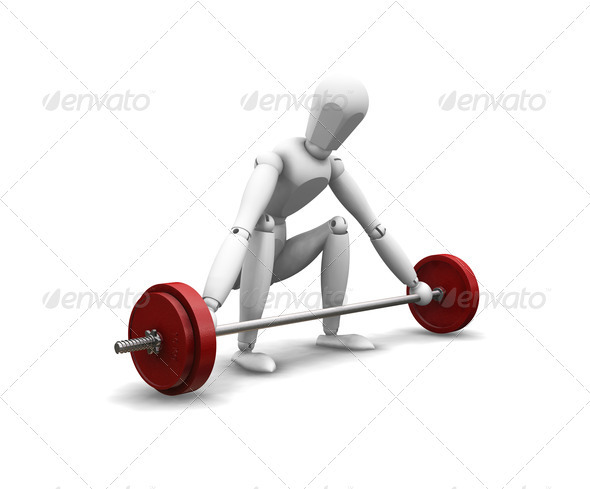 Graphic River Weight lifting Graphics -  3D Renders  Characters 305936