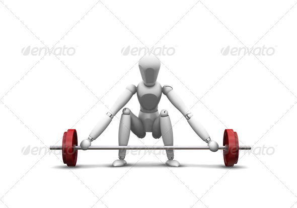 Graphic River Weight lifting Graphics -  3D Renders  Characters 305937