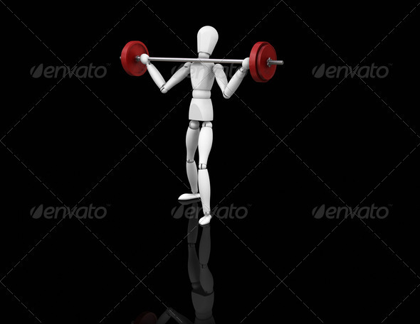Graphic River Weightlifter Graphics -  3D Renders  Characters 305940