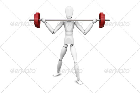 Graphic River Weight lifter Graphics -  3D Renders  Characters 305941