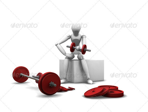 Graphic River Weight lifting Graphics -  3D Renders  Characters 305942
