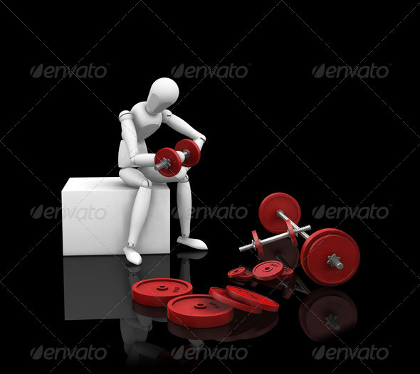 Graphic River Weight lifting Graphics -  3D Renders  Characters 305943