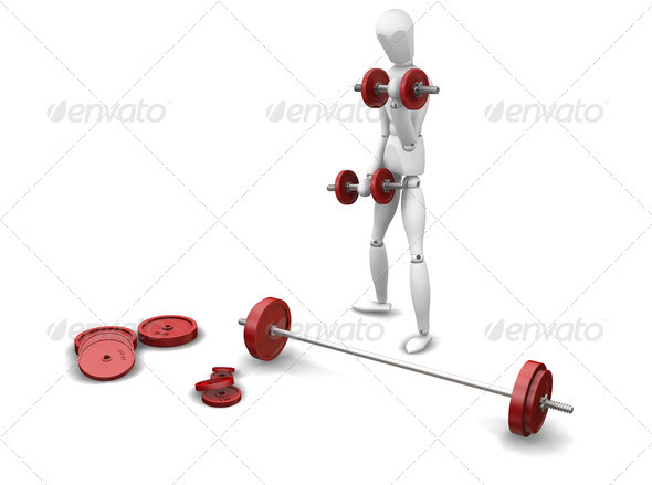 Graphic River Weight lifting Graphics -  3D Renders  Characters 305944