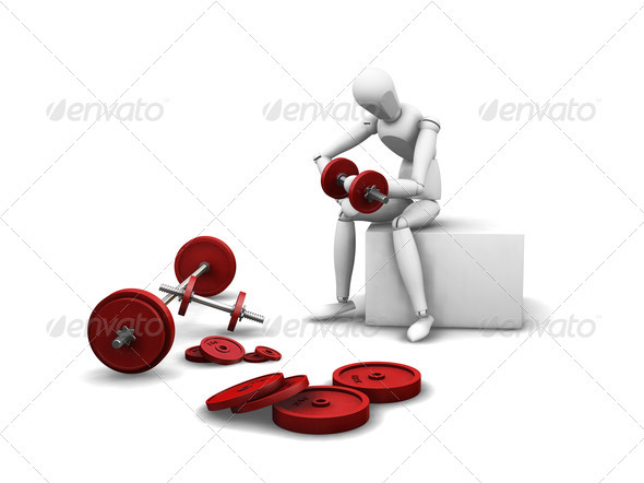 Graphic River Weight lifting Graphics -  3D Renders  Characters 305946