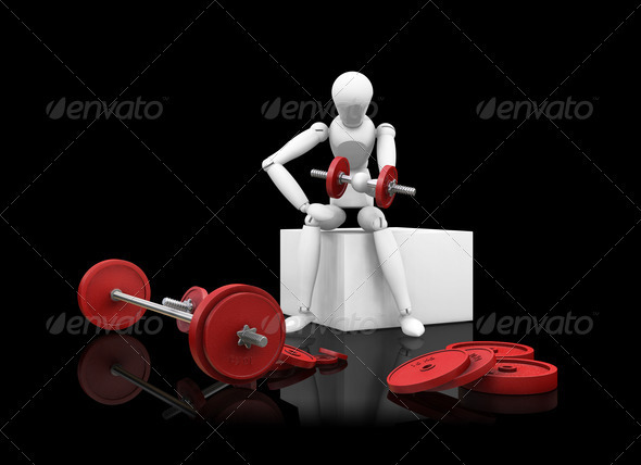 Graphic River Weight lifting Graphics -  3D Renders  Characters 305947
