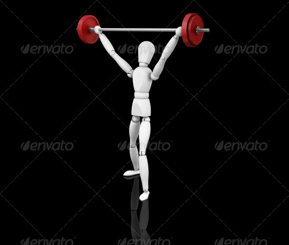 Graphic River Weightlifter Graphics -  3D Renders  Characters 305948