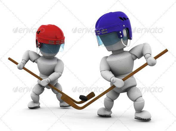 Graphic River Ice hockey players Graphics -  3D Renders  Characters 305955