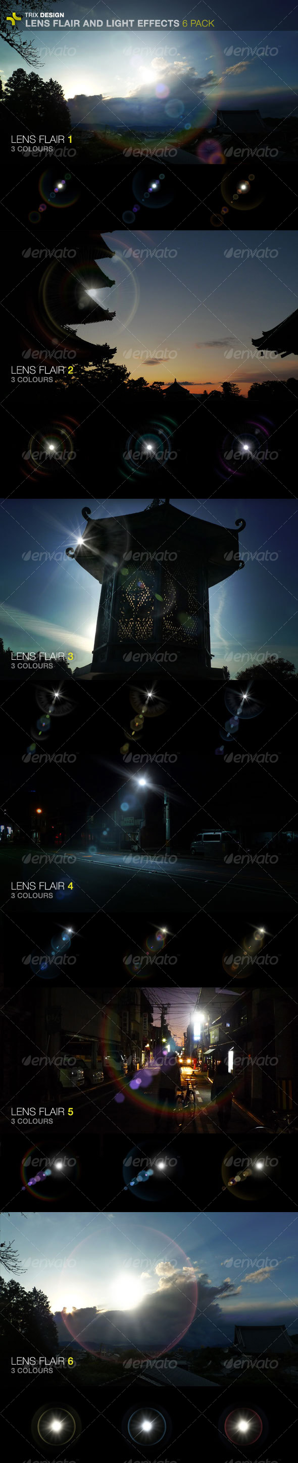 GraphicRiver Lens Flares 6 Pack 104673