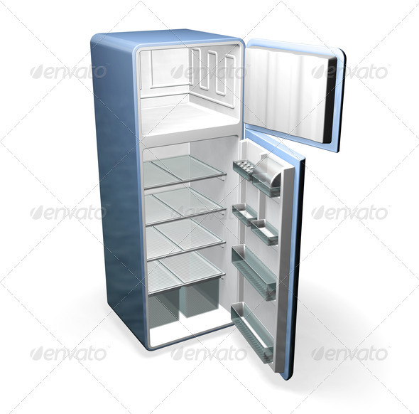 Graphic River Fridge Graphics -  3D Renders  Objects 306005