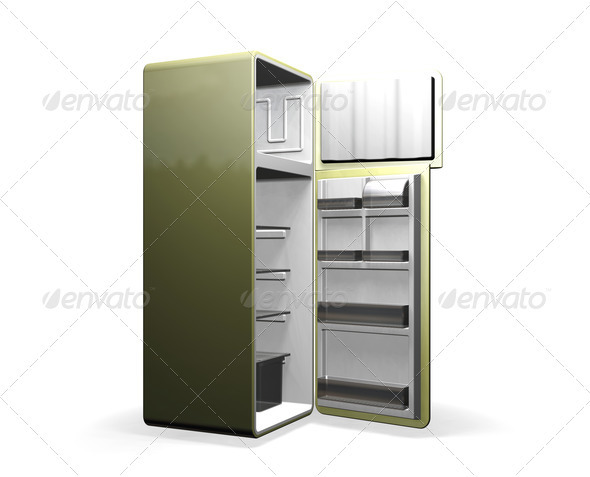 Graphic River Modern Fridge Graphics -  3D Renders  Objects 306006