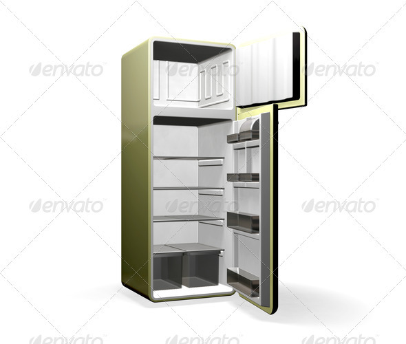 Graphic River Modern Fridge Graphics -  3D Renders  Objects 306007