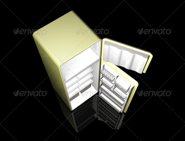 Graphic River Modern fridge Graphics -  3D Renders  Objects 306009