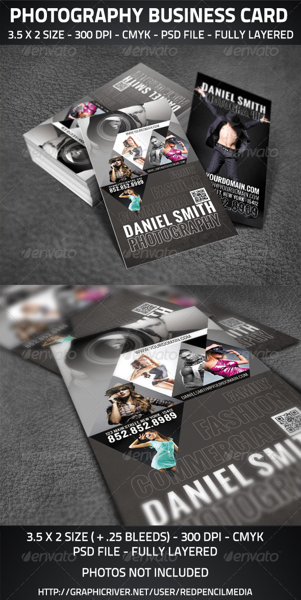 GraphicRiver Photography Business Card 2923405
