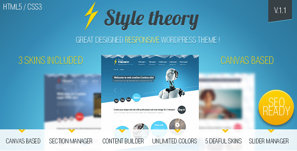 WordPress – Style Theory –  WordPress canvas based theme. | ThemeForest