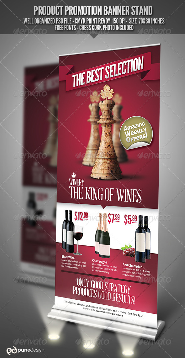 GraphicRiver Product Promotion Banner Stand 2924962