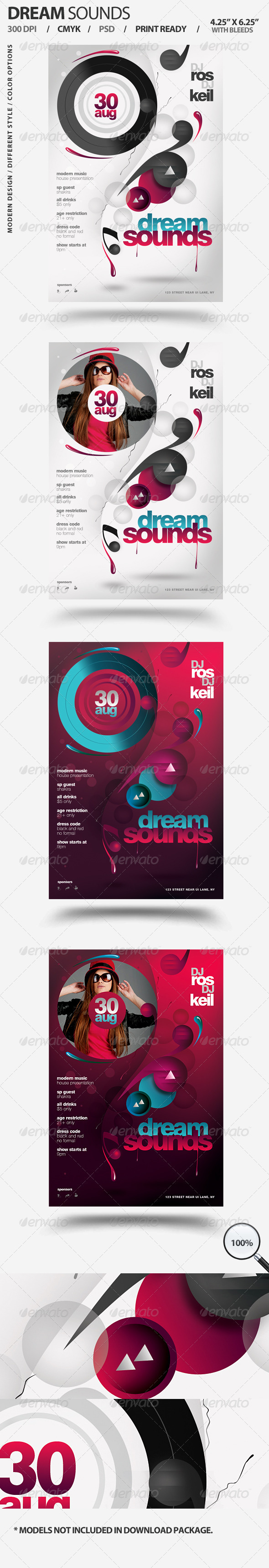 GraphicRiver Dream Sounds Party Flyer 2910900