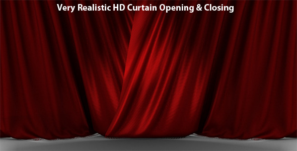 After Effects Project - VideoHive Very Realistic HD Curtain Opening & Closi ...