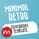 Minimal Retro PowerPoint Template - GraphicRiver Item for Sale
