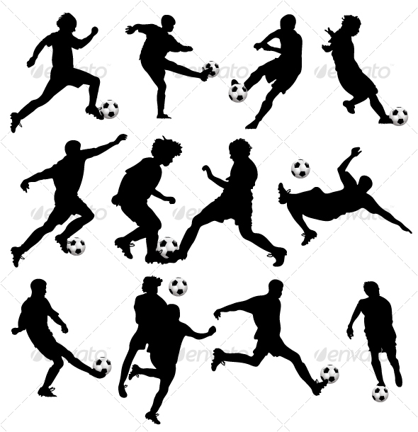 GraphicRiver Vector Soccer Silhouettes 104769