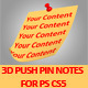 3D Push Pin Notes Pack For PS CS5, Full 3D Options - GraphicRiver Item for Sale