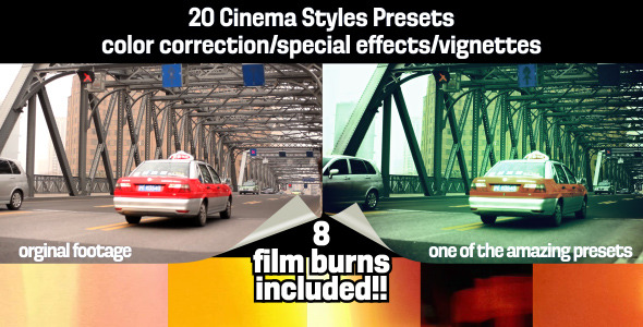 After Effects Project - VideoHive Cinema Styles Presets & Film Burns 306460