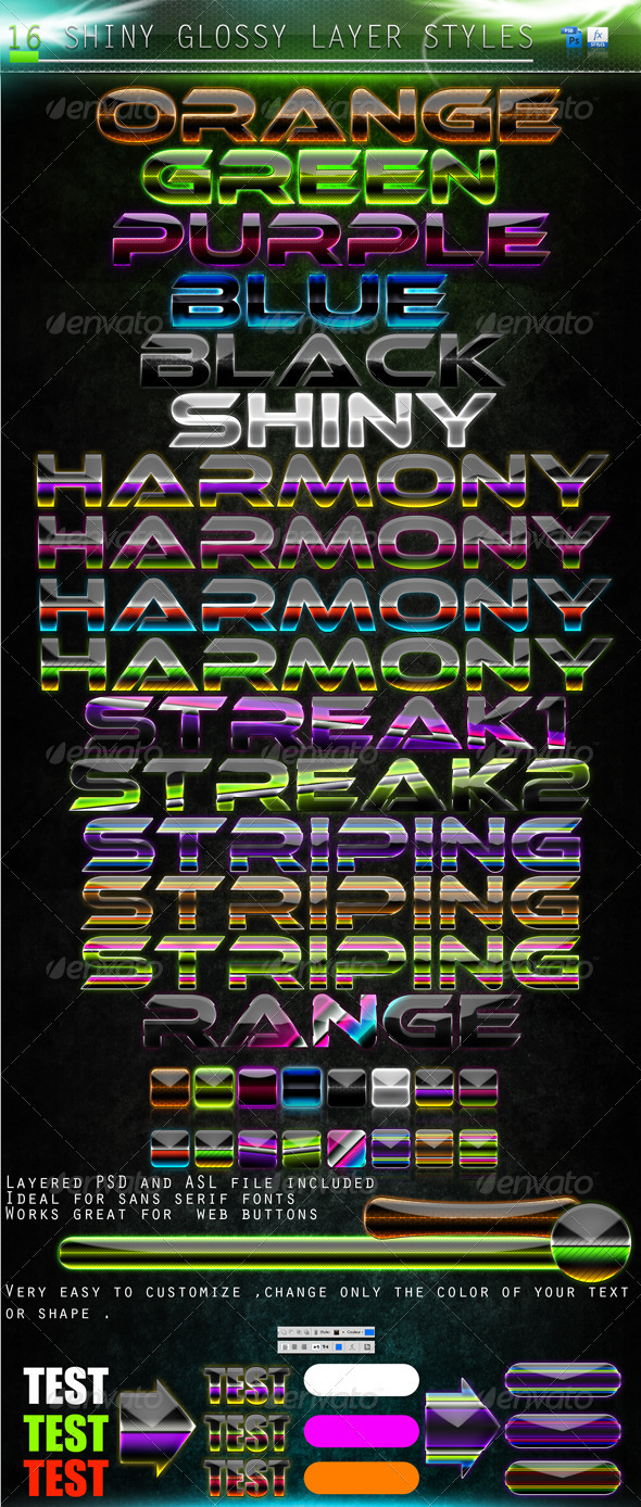 GraphicRiver Shiny Layer Styles 306570