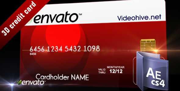 After Effects Project - VideoHive 3D credit card 103825