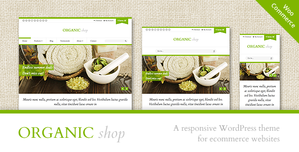 cosmetology portfolio template - organic shop responsive woocommerce theme by