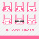 36 Pixel Emoticons of Rabbits - GraphicRiver Item for Sale