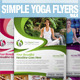 Simple Yoga Flyer Vol.4 - GraphicRiver Item for Sale