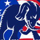 Republican Elephant Mascot USA Flag - GraphicRiver Item for Sale
