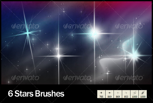 GraphicRiver 6 Star Brushes 105062