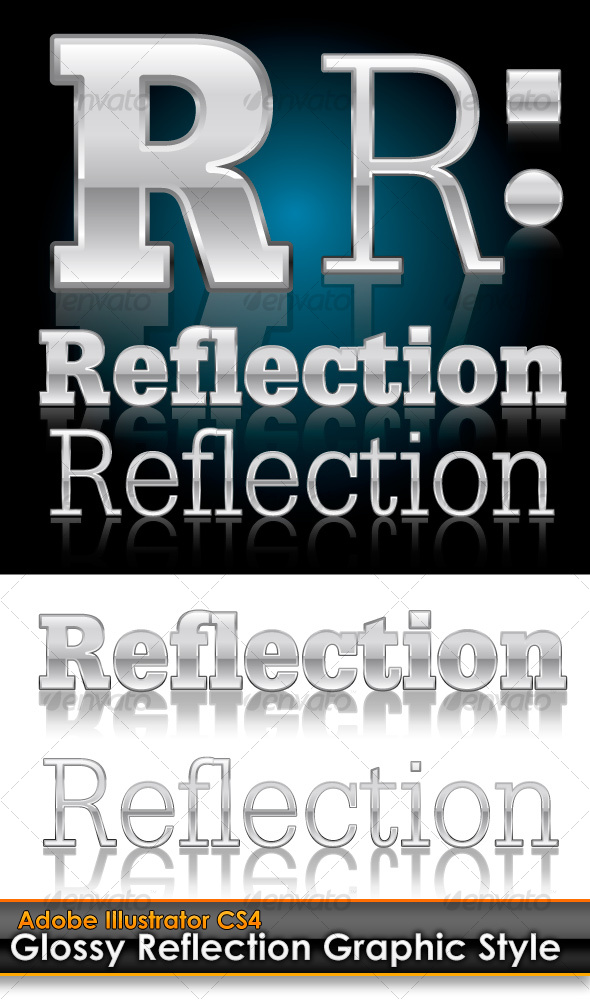 GraphicRiver Glossy Reflection Illustrator Graphic Style 98624