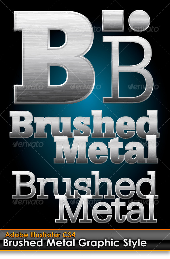 GraphicRiver Brushed Metal Illustrator Graphic Style 103974