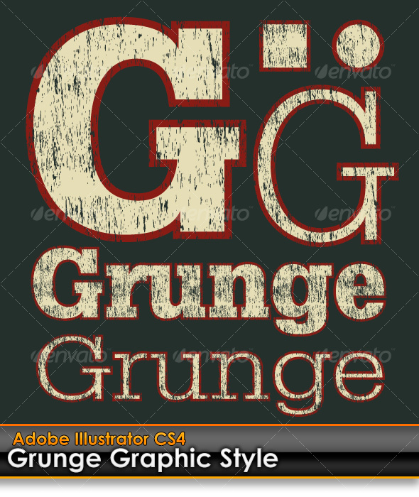 GraphicRiver Grunge Distressed Illustrator Graphic Style 103187