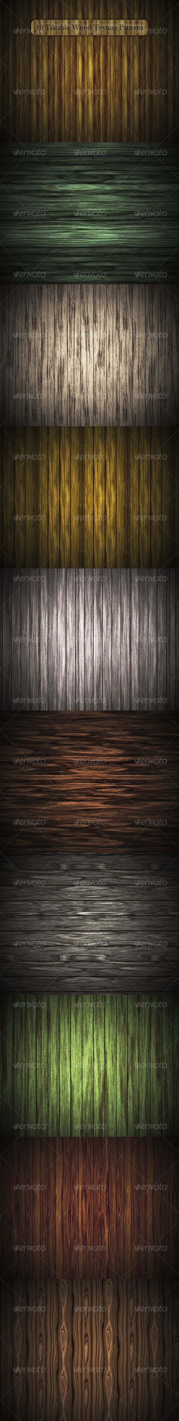 GraphicRiver 10 Tileable Wood Texture Patterns 105097