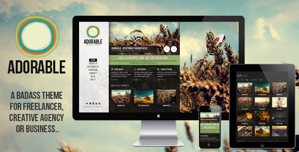 ThemeForest ADORABLE clean and responsive wordpress theme 2938602