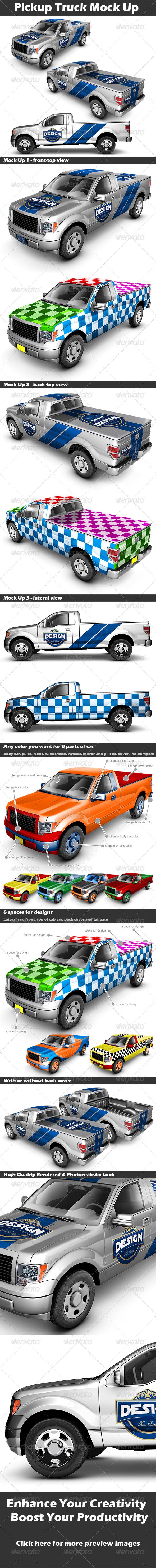GraphicRiver Pickup Truck Mock Up 2939007