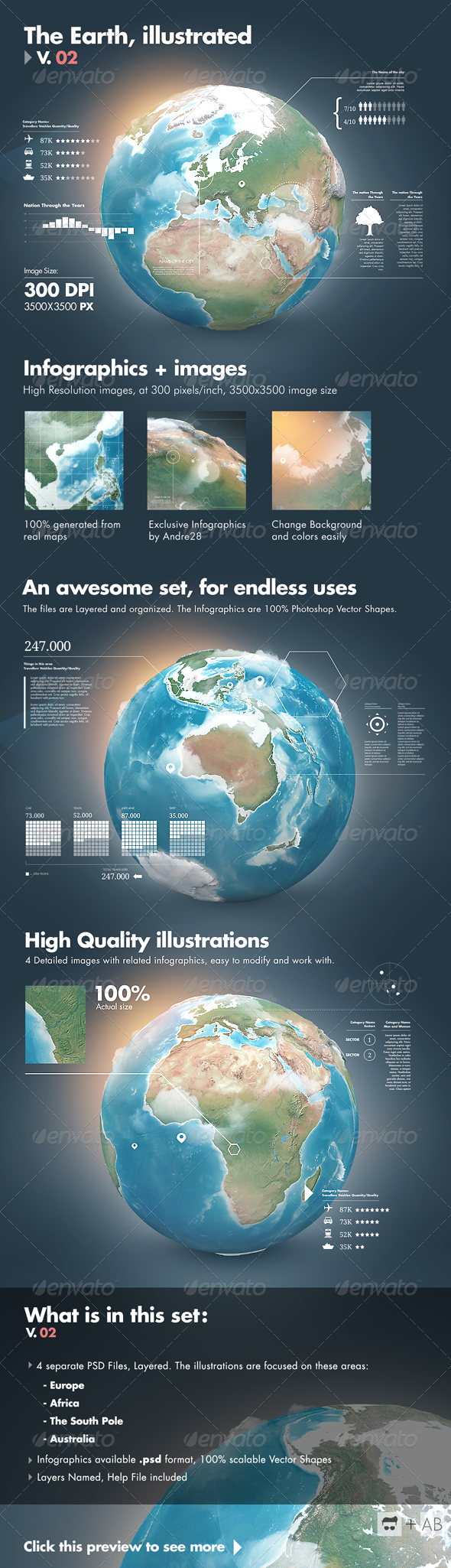 GraphicRiver Earth Illustrated 3D World and Infographics V2 2939336