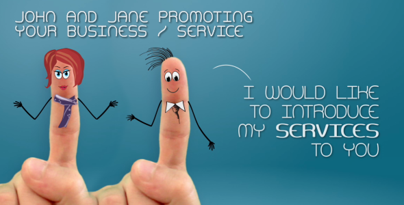VideoHive John and Jane Promoting Your Business Service 2880043