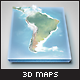 Realistic South America 3D Map - Layered - GraphicRiver Item for Sale