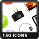 150 Web & Media Icons - GraphicRiver Item for Sale