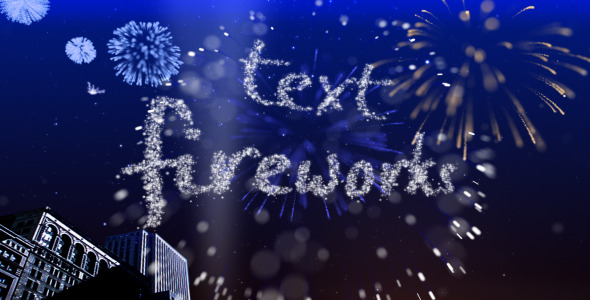 After Effects Project - VideoHive Text Fireworks 307544