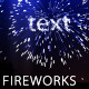 Text Fireworks - VideoHive Item for Sale
